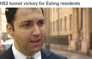 Cllr Bassam Mahfouz speaking to BBC London about the victory to have the route tunnelled