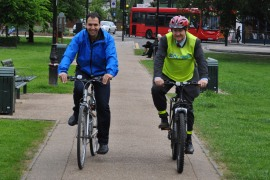 Cllrs Bassam Mahfouz and Julian Bell have both pledged as part of Cycle to Work Day