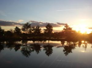 Sunset in Northala Fields, one of our Green Flag awarded parks