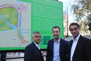 Sadiq Khan visits to see the improvements for Ealing Broadway Station too